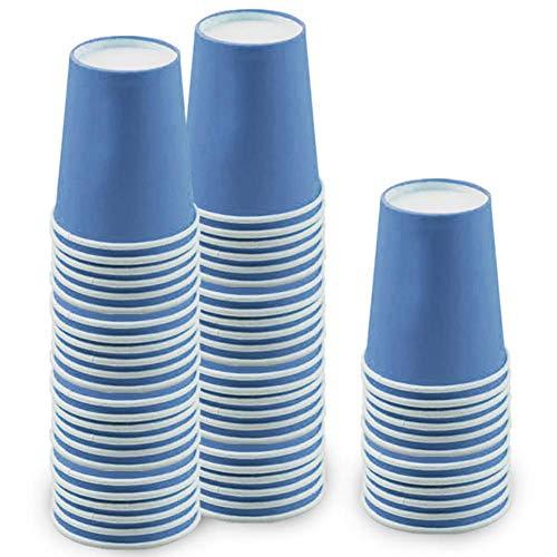 60 Piezas Vasos de Papel Azul Tazas de Fiesta Desechables Vasos Carton...