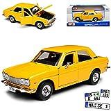 Maisto Datsun Nissan Bluebird 510 Gelb Braun 1971 1/24 Modell Auto