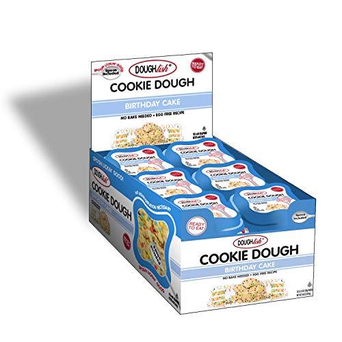 Taste of Nature Doughlish Edible Cookie Dough - Birthday Cake 4.5oz (Pack of 12)