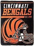 NFL Cincinnati Bengals '40-Yard Dash' Micro Raschel Throw Blanket, 46' x 60'