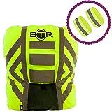 BTR Regenschutz Rucksack. 100% Wasserfester Regenschutz Schulranzen. Schulranzen Regenschutz und Reflektor Band