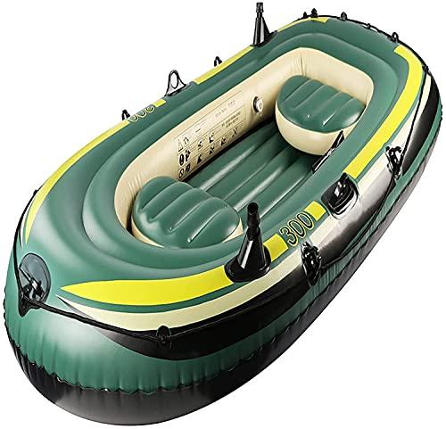 WEUN Aufblasbares Boot DREI-Personen, Schlauchboot Fischerboot Kayak Aufblasbarer Boot Verdickter Rumpf Airbag Geeignet für Erwachsene Kinder Lauking am Surf Beach