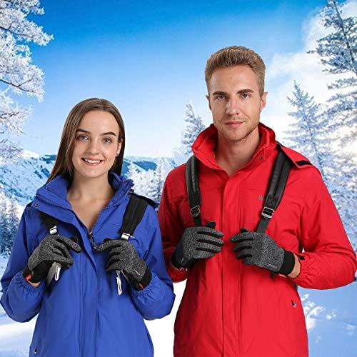 Anqier Handschuhe Herren Damen Touchscreen Fahrradhandschuhe Winter Winddicht Winterhandschuhe Outdoor zum Laufen Wandern Reiten Bergsteigen - 7