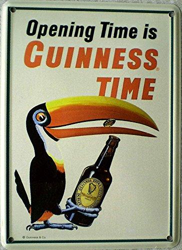 Mini-Blechschild Guinness - Tukan mit Flasche, 8 x 11 cm