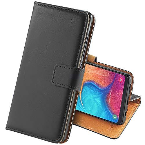 GeeRic Kompatibel Für Samsung Galaxy A20e Hülle, [Standfunktion] [Kartenfach] [Magnet] [Anti-Rutsch] PU-Leder Schutzhülle Brieftasche Handyhülle Kompatibel Mit Samsung Galaxy A20e Schwarz