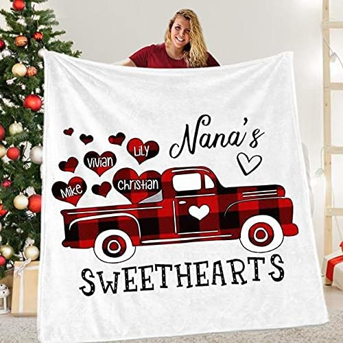 Personalized Grandma NEW before selling Love Car Blanket Gift Nana Department store for from