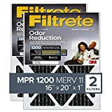 carbon ac filter - Filtrete 16x20x1, AC Furnace Air Filter, MPR 1200, Allergen Defense Odor Reduction, 2-Pack (exact dimensions 15.719 x 19.719 x 0.84)
