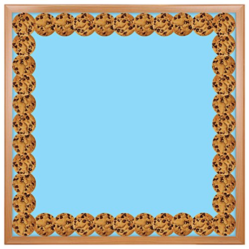 Hygloss Products Chocolate Chip Cookies Die-Cut Bulletin Board Border – Classroom Decoration – 3 x 36 Inch, 12 Pack (33640)