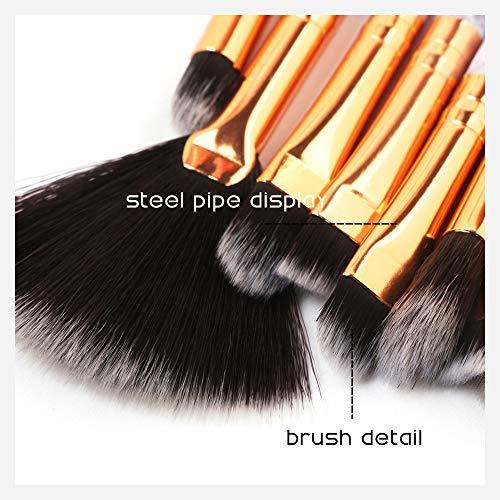10Pcs Pinceaux Maquillage Yeux, Pinceaux Maquillage De Fard Et Liquide Eyeliner Pour Visage Yeux, Pinceaux CosméTique De PréCision Et De Base