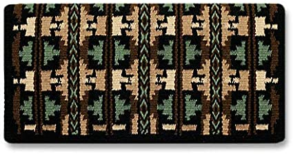 Broken Arrow Show Blanket 38 x 34 Black Base//Indian Tan /& Cream Accents