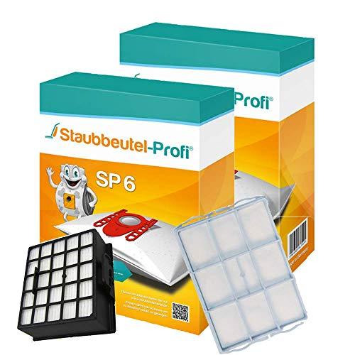 20 Staubsaugerbeutel-Set SP6 kompatibel mit Swirl S67 geeignet für Siemens VSZ32412, VSZ 32412