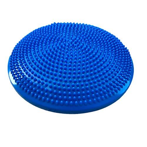 Guiran Balancekissen mit Pumpe Wackelkissen Balancekissen Sitzkissen für Yoga, Fitness, Massage Blau Durchmesser:33CM