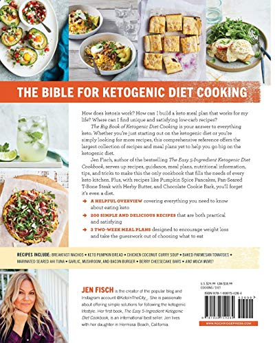The Big Book of Ketogenic Diet Cooking: 200 Everyday Recipes and Easy 2-Week Meal Plans for a Healthy Keto Lifestyle 4