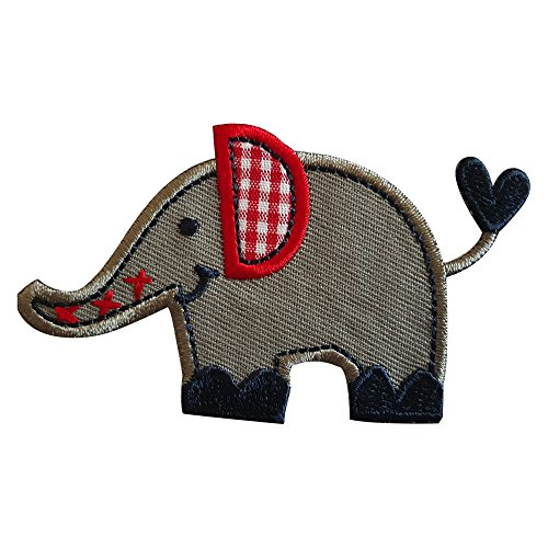 Elefant 6x4cm strijkapplicatie patch patch stof patch jurken om op pet rok turnzak halsdoek wimpel rugzak tas hoed sjaal jeans jas kussen deurschild plafond broek vlag hemd