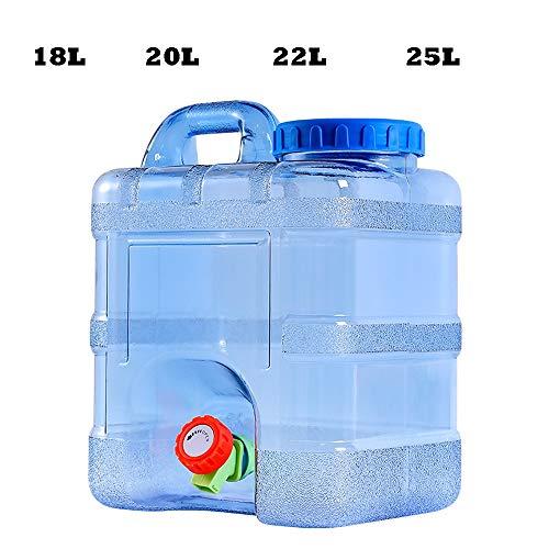 Guoda Wasserkanister  Tragbares   PC-Material In Lebensmittelqualität   Kann Mit Kochendem Wasser   Mit Verlängerungsrohr   Wasserhahn   Blau Gefüllt Werden (Size : 18L)