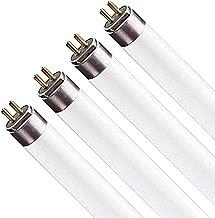 Luxrite LR20826 (4-Pack) F24T5/830/HO 24-Watt 2 FT T5 Hight Output Fluorescent Tube Light Bulb, Soft White 3000K, 1635 Lumens, G5 Mini Bi-Pin Base