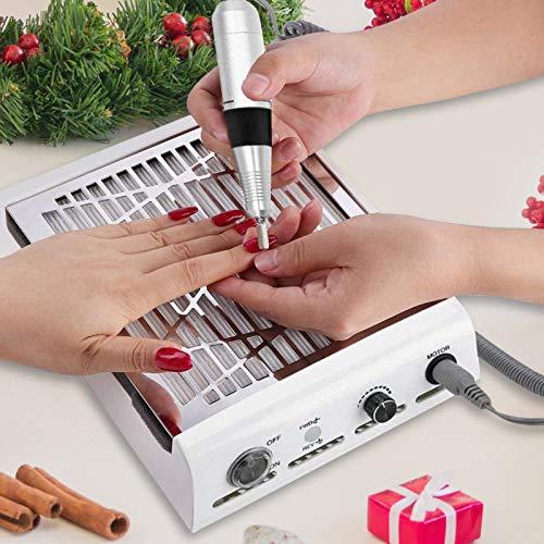 SEAAN Colector de polvo de succión de uñas eléctrico profesional con lima...