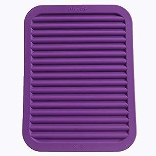 9 x 12 Silicone Pot Holder, Trivet Mat, Baking Gadget Kitchen Table Mat - Waterproof, Heat Insulation, Non-Slip,Trivet, Tableware Pad Coasters (Dark Purple) by Amtop