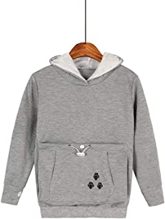 Boys Girls Large Pouch Hoodies,Pet Cat Dog Holder Carrier Sweatshirt Long Sleeve Pullover
