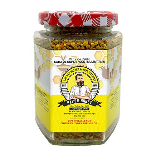 Bee Pollen 200 g Organic Papy's 100% Natural - Vitamin D + Zinc | Multivitamin Blend + Immune System Boost | Vital Minerals and Nutrients | 100% Chemical Free