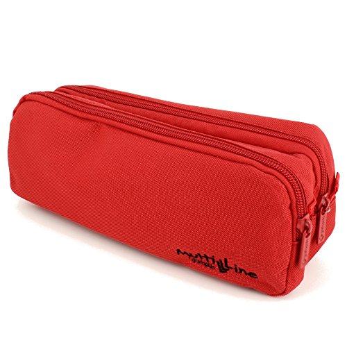 Grafoplás 37542051-Estuche escolar doble Multiline color rojo