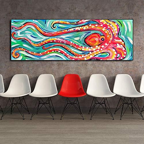Pulpo abstracto lienzo decorativo pintura sala estar