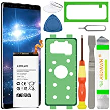 Galaxy Note 9 Battery Replacement, EB-BN965ABU Battery for Samsung Galaxy Note 9 SM-N960 N960U/U1/A/T/P/V/R4/W/F with Repair Tool Kit+Back Cover Adhesive+Battery Adhesive+Installation Instruction