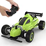 RC Racing Car, 4WD 2.4Ghz Remote Control Car, 10-15KM/H High Speed, Variable Speed, 1:20 Scale, 4 Batteries, Toys Cars for Boys and Girls, Green