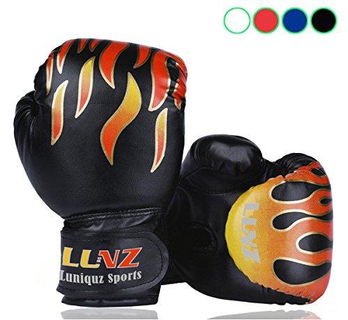Luniquz Kinder Boxhandschuhe mit Klettschluss Klein Box-Handschuhe für Kinder von 3 - 10 Jahre Training Gloves 6 Unzen zum MMA, Muay Thai,...