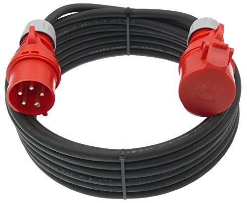 netbote24® CEE Starkstrom Verlängerungskabel 16A 5-polig H07RN-F 5x1,5mm² IP44 Außenbereich 5-50m (5m)