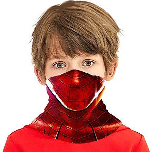 Spi-der-Man Wallpaper Kids Neck Gaiters Kids Summer Face Covering For Girls Bandana Face Mask Scarves Headband