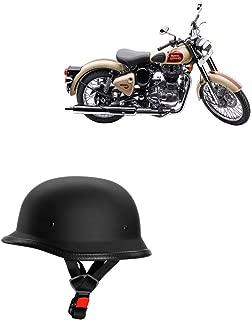 Adroitz Classic German Style Bike Half Helmet for Bajaj Pulsar AS 150 (Black)