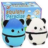 POKONBOY Jumbo Squishies Panda Squishy Toys - 2 Pack Kawaii Cute Panda Squishy Slow Rising Cream Scented Squishies Jumbo Stress Reliever Toys for Boys and Girls Birthday Party Supplies