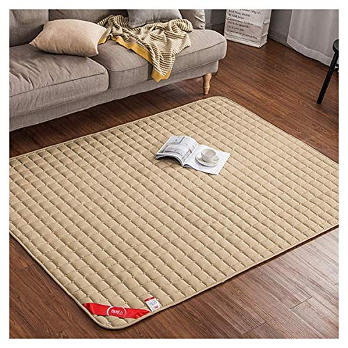 Japanese Futon Tatami Cushion Mattress,Floor Mat,Non-Slip Sleeping Foldable Bed Mattress Suitable for Camping, Yoga, Student Residences,Camel-180 * 200cm