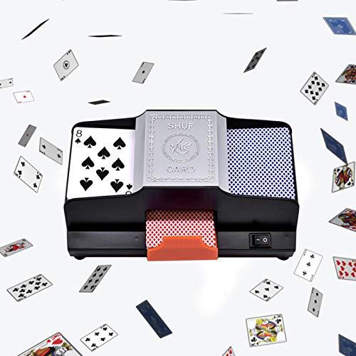 ZLGP Tarjeta Profesional Shuffler 1-2 Cubiertas Máquina de Arrastre de plástico de Alta Velocidad de Alta Velocidad Juegos de Tarjetas de Juego Shuffler Juego Accesorio para el Torneo Hogar