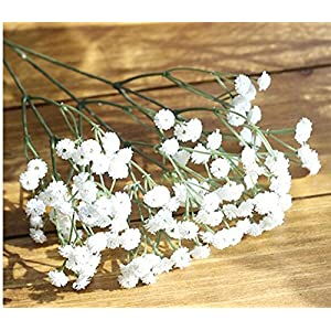 Silk Flower Arrangements Artificial and Dried Flower 90 Heads Artificial Flowers Baby's Breath Flower Gypsophila Plants for Wedding Birthday Party Decoration DIY Home Decor Supplies - ( Color: White )