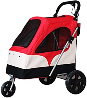 Zzyff Pet Trolley Cart, Large Pet Stroller Dog Trolley Baby Cart Folding Large Space, Bearing 55KG for Outbound Use Durable