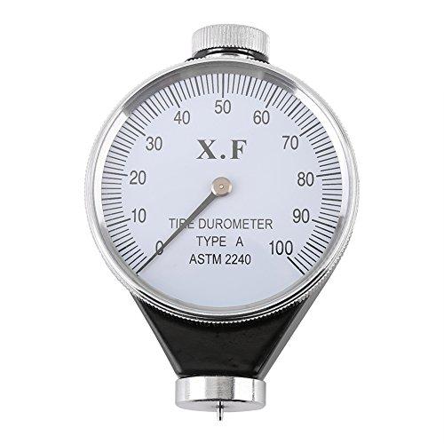 xuuyuu 硬度計 ゴムタイヤ硬度計 ポータブル硬度計 マイクロメーター 測定工具 ゴム/ガラス/プラスチック/革の硬さ測定 A/O/D型 硬度テスターメーター タイヤデュロメータ (A)
