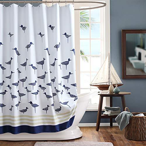 GASIYU Cardinal Wasserdichter Stoff-Duschvorhang, bedruckter Duschvorhang für Badezimmer, Polyester, Schokoladenbraun, 183 cm B x 183 cm H