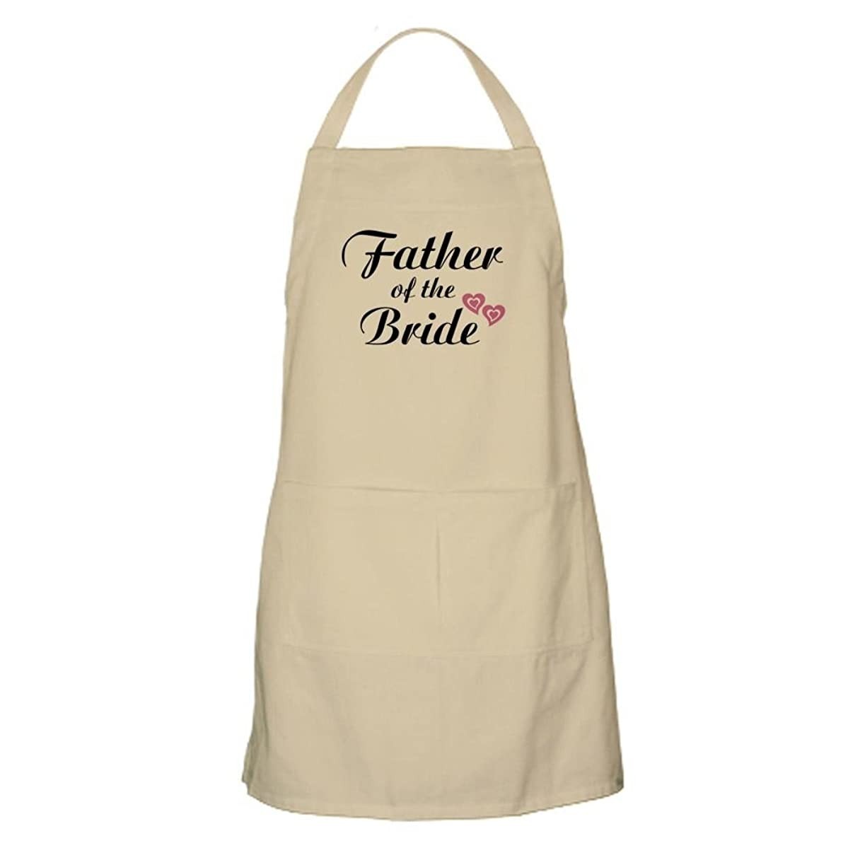 CafePress Father of The Bride BBQ Apron Kitchen Apron with Pockets, Grilling Apron, Baking Apron
