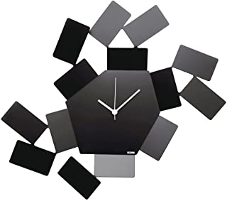Alessi   La Stanza dello Scirocco MT19 B - Horloge Murale Design en Acier Inoxydable, Noir