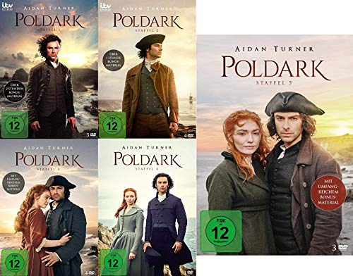Poldark - Staffel 1 - 5 im Set - Deutsche Originalware [17 DVDs]