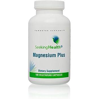 Magnesium Plus | Vitamin B6 Plus Magnesium Supplement | 100 Vegetarian Capsules | Seeking Health | Physician Formulated