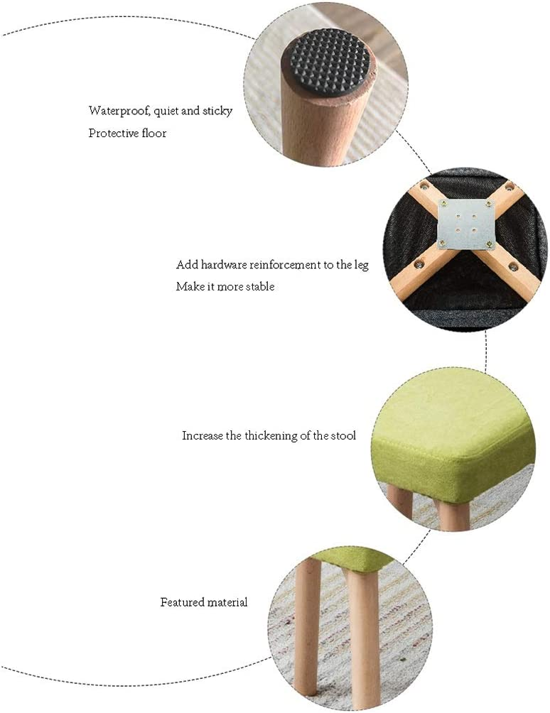 Chaise de salle à manger en bois, tabouret de dressage de chambre basse de tabouret carré amovible de couverture colorée de restaurant (Color : #2) #7