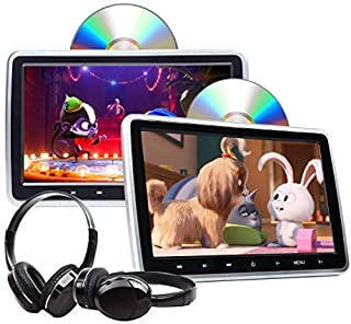 2020 Newest Headrest DVD Player 10.1 Inch DVD Player Universal Vehicle Headrest Monitor Portable DVD Player for Kids Dual ...