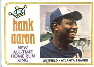 1974 Topps Baseball Card #1 Hank Aaron