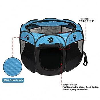 TOOGOO Portable pliant Animaux de compagnie tente chien maison cage chien chat tente parc chiot chenil operation facile octogonale cloture #B