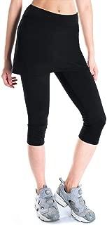 Yogipace Women's UPF 50+ Capri Leggings with Skirt, Active Skort with Pockets