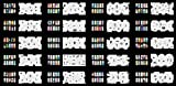 ABEST VerkaufWiederverwendbarer Airbrush DESIGNS der Nail-Art Schablone 320-20 Vorlage-Blätter-Kit-Set 4 -