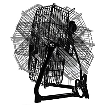 Comfort Zone High Velocity Cradle Fan | 3 Speed 12 Inch Fan with All Metal Construction